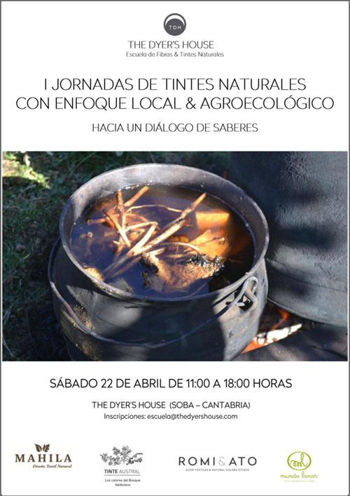 Cartel Primeras Jornadas Tintes Naturales en The Dyer's House_500