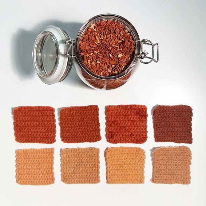 Fibras proteicas_Sándalo_Curso de capacitación en Tintes Naturales en The Dyer's House