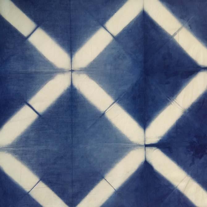 Itajime_Shibori_Curso de capacitación en Tintes Naturales en The Dyer's House