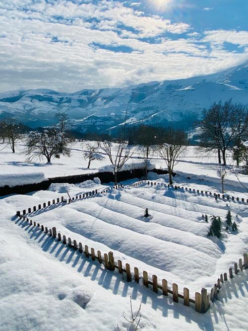 El-huerto-de-The-Dyers-House-en-modo-nieve