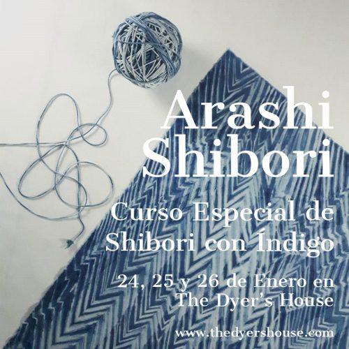 Curso de Arashi-Shibori