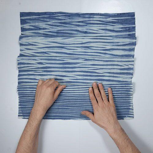 Textura-marina-Arashi-Shibori-Índigo